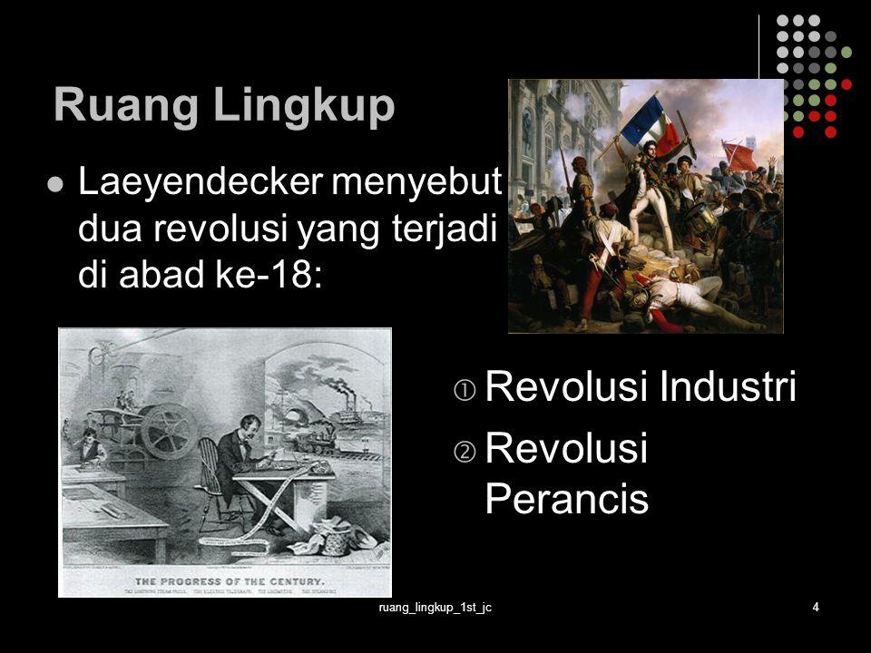 Ruang Lingkup Revolusi Industri Revolusi Perancis
