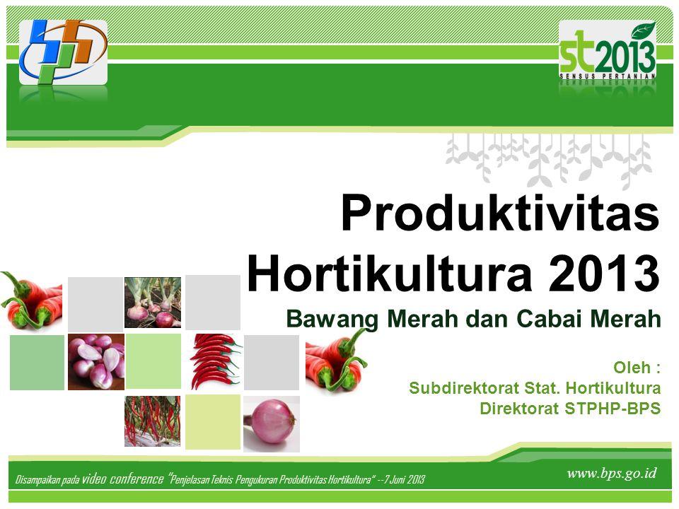 Produktivitas Hortikultura 2013 Bawang Merah dan Cabai Merah