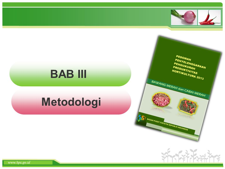 BAB III Metodologi www.bps.go.id