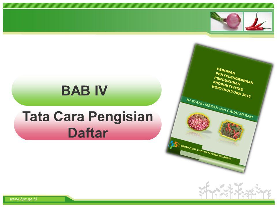 BAB IV Tata Cara Pengisian Daftar