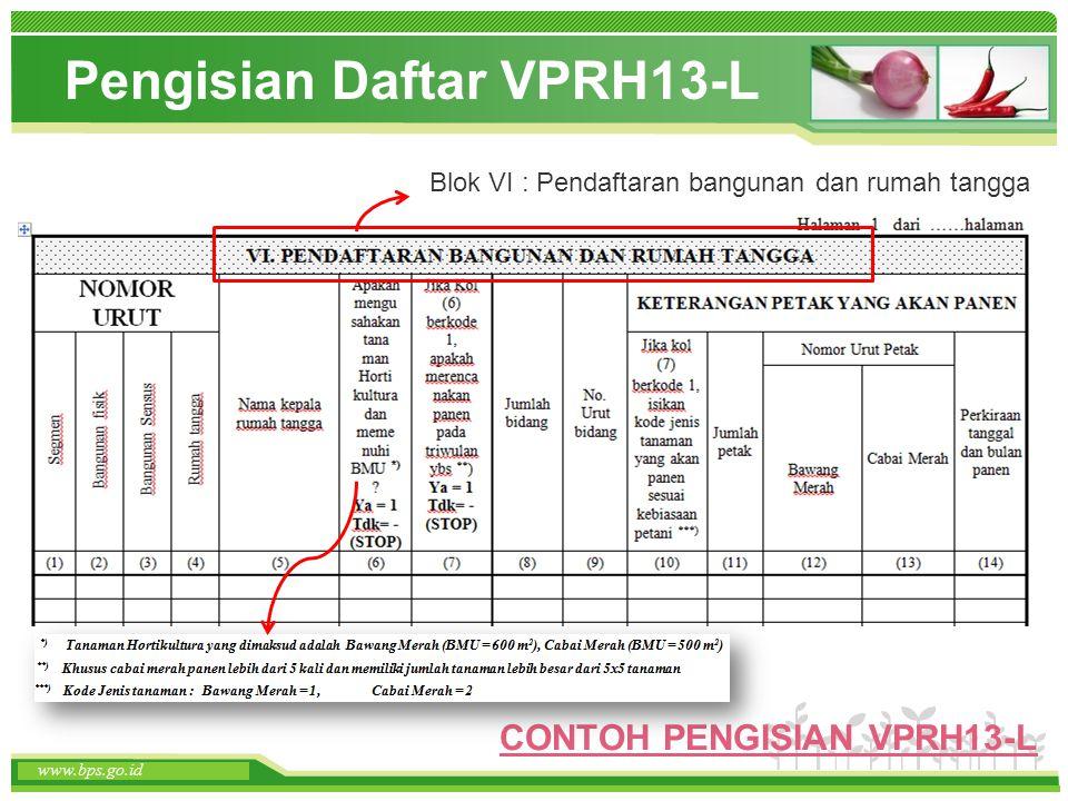 Pengisian Daftar VPRH13-L