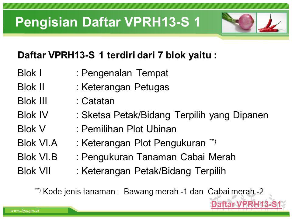 Pengisian Daftar VPRH13-S 1