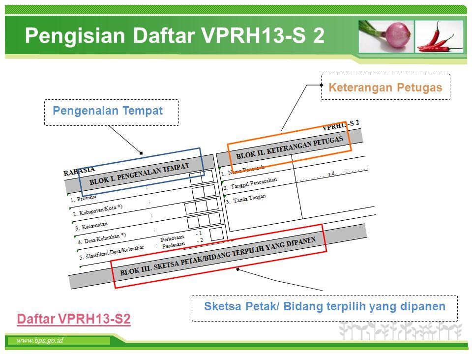 Pengisian Daftar VPRH13-S 2