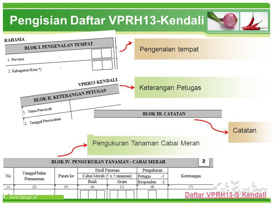 Pengisian Daftar VPRH13-Kendali