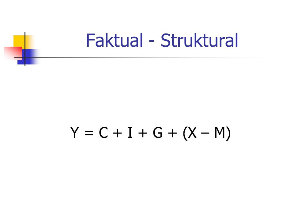 Faktual - Struktural Y = C + I + G + (X – M)