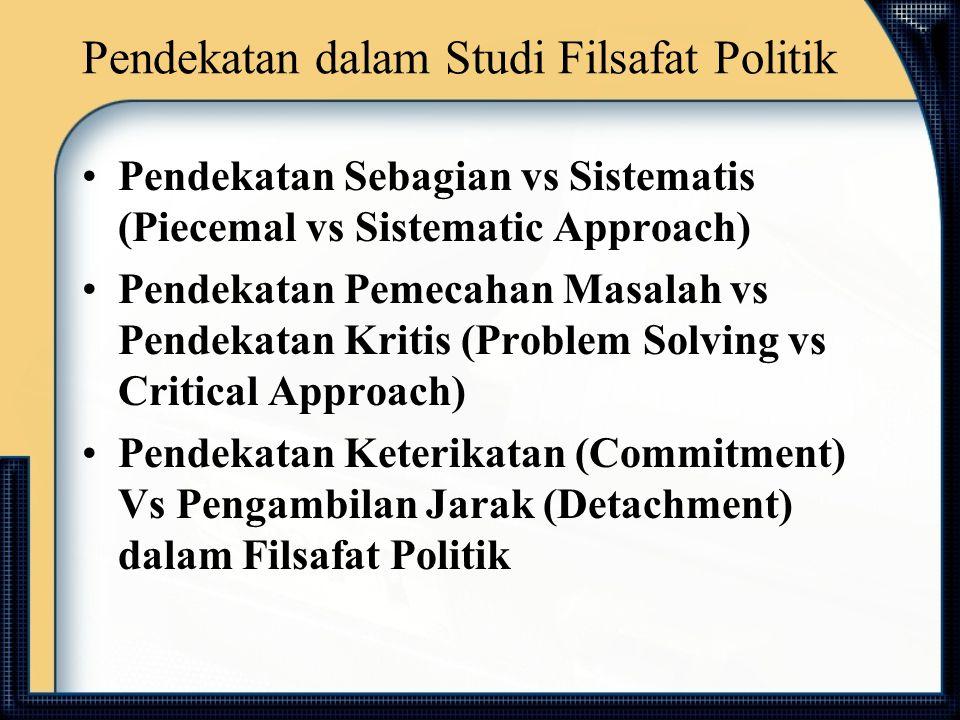 Pendekatan dalam Studi Filsafat Politik