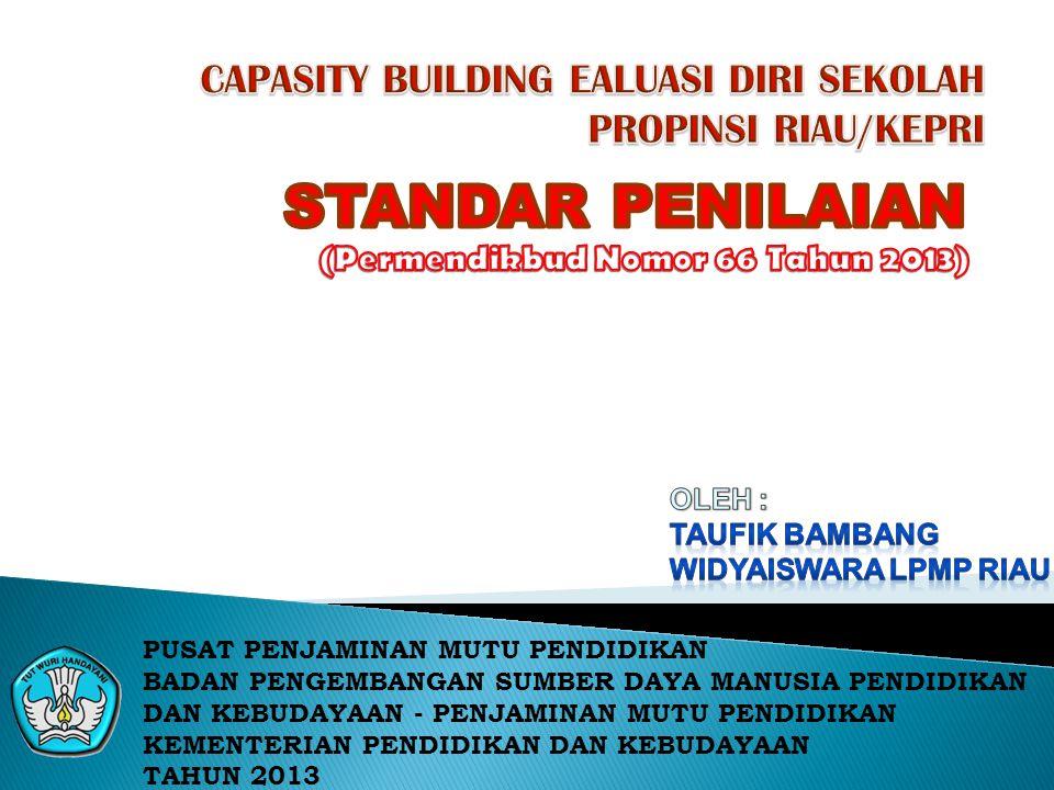 CAPASITY BUILDING EALUASI DIRI SEKOLAH PROPINSI RIAU/KEPRI