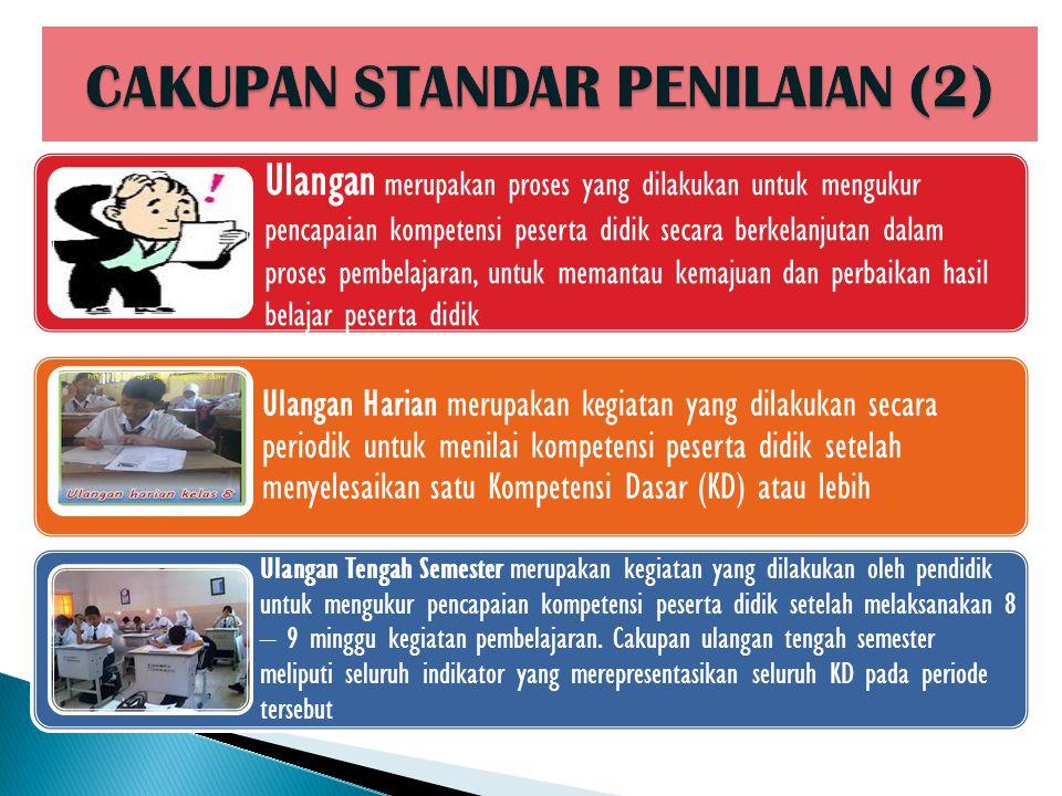 CAKUPAN STANDAR PENILAIAN (2)