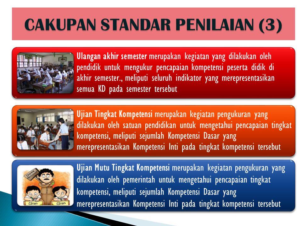 CAKUPAN STANDAR PENILAIAN (3)