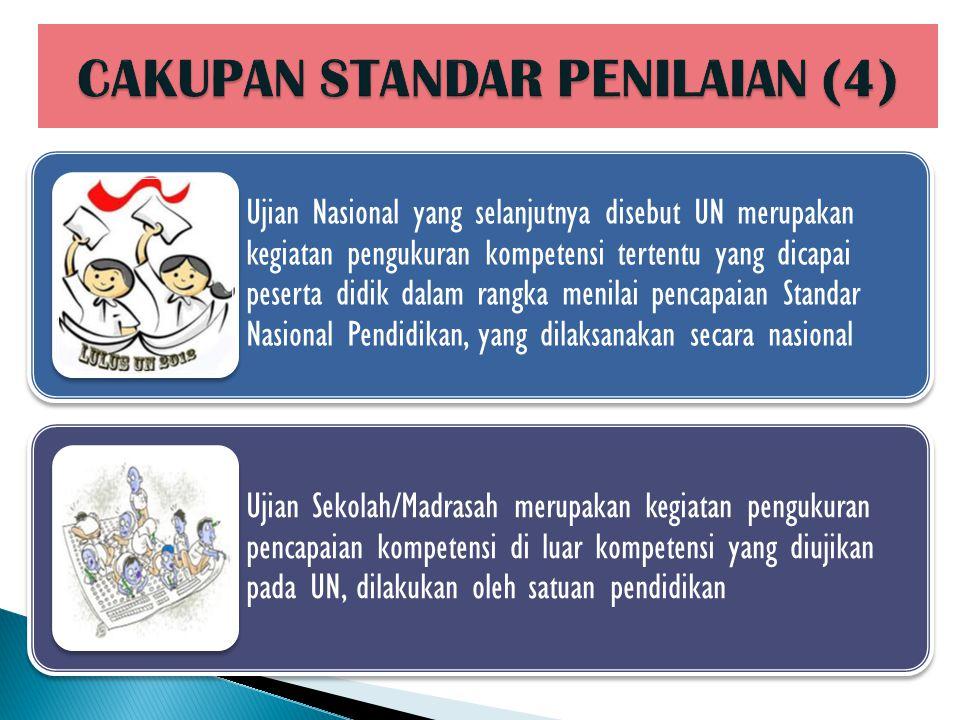 CAKUPAN STANDAR PENILAIAN (4)