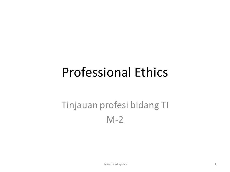 Tinjauan profesi bidang TI M-2