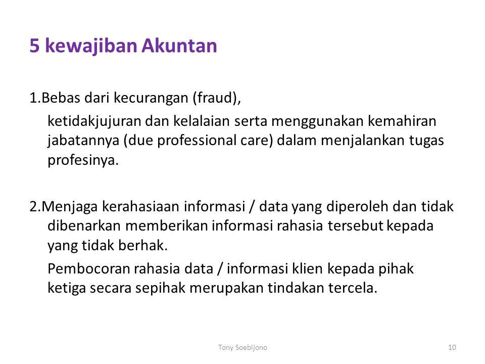5 kewajiban Akuntan
