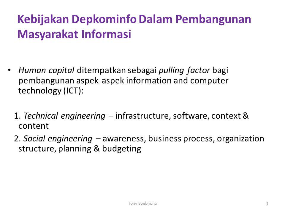Kebijakan Depkominfo Dalam Pembangunan Masyarakat Informasi