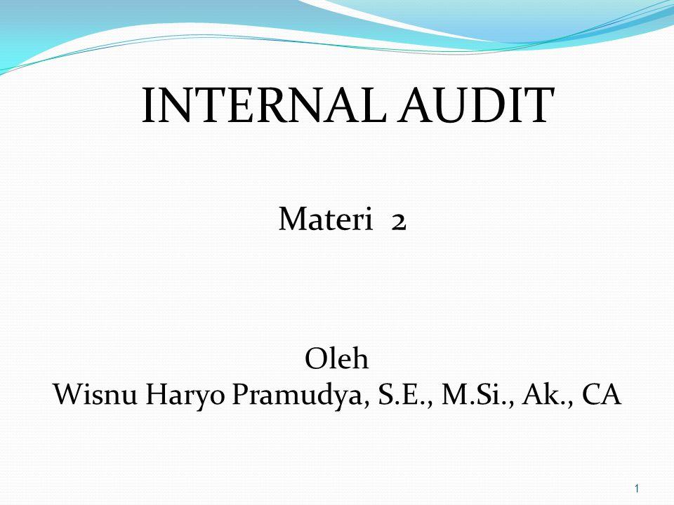 Wisnu Haryo Pramudya, S.E., M.Si., Ak., CA