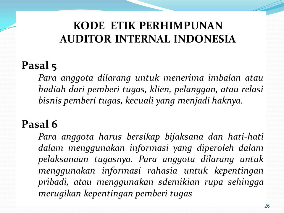 AUDITOR INTERNAL INDONESIA