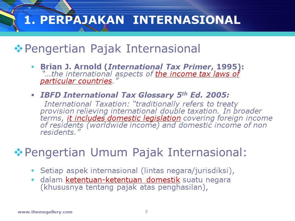 1. PERPAJAKAN INTERNASIONAL