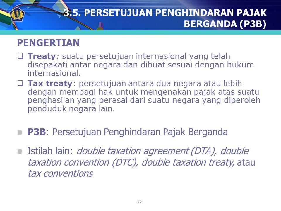 3.5. PERSETUJUAN PENGHINDARAN PAJAK BERGANDA (P3B)