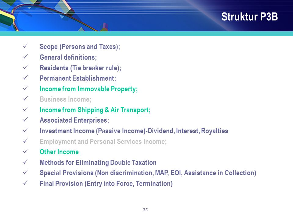 Struktur P3B Scope (Persons and Taxes); General definitions;