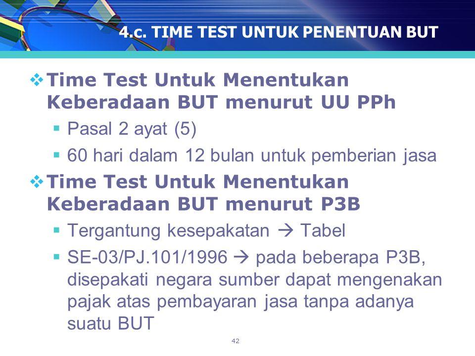 4.c. TIME TEST UNTUK PENENTUAN BUT