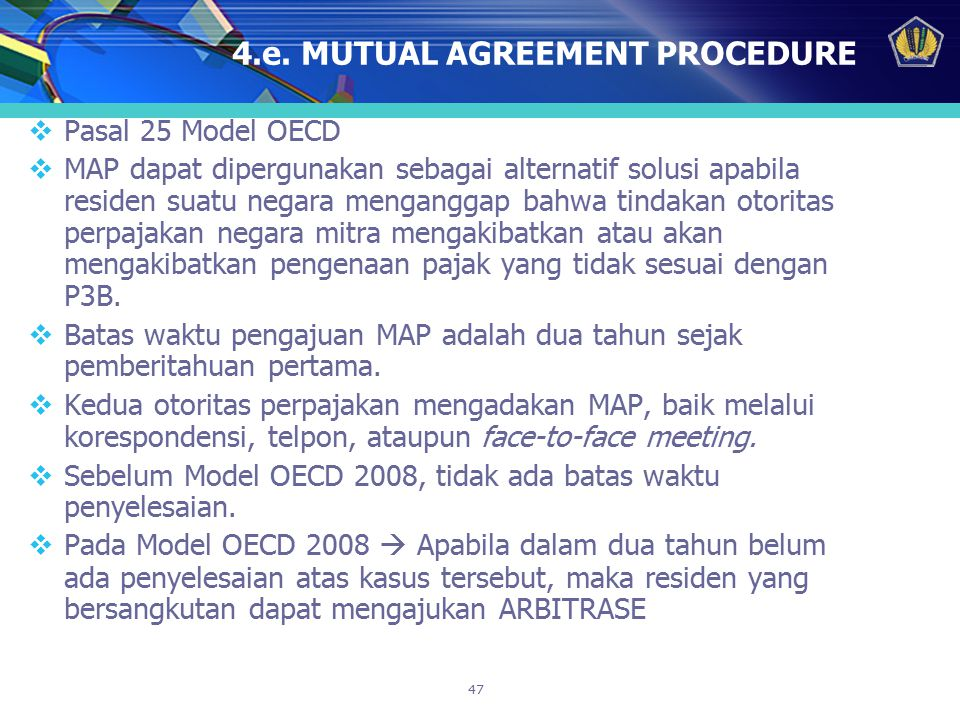 4.e. MUTUAL AGREEMENT PROCEDURE