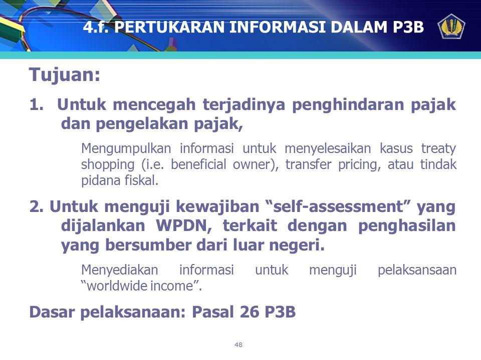4.f. PERTUKARAN INFORMASI DALAM P3B