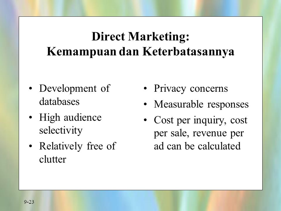 Direct Marketing: Kemampuan dan Keterbatasannya