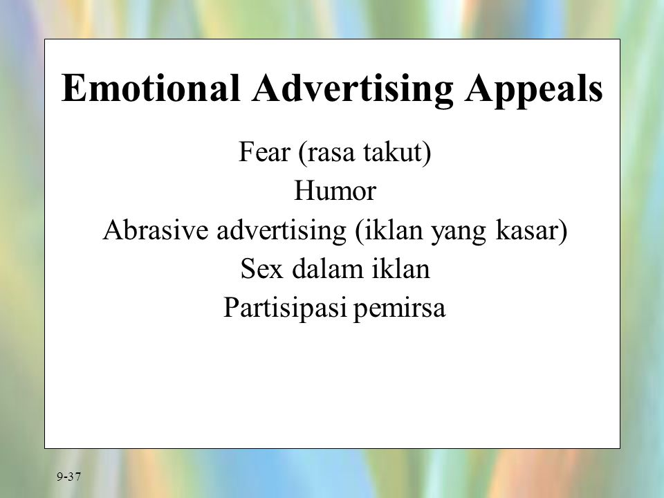 Emotional Advertising Appeals
