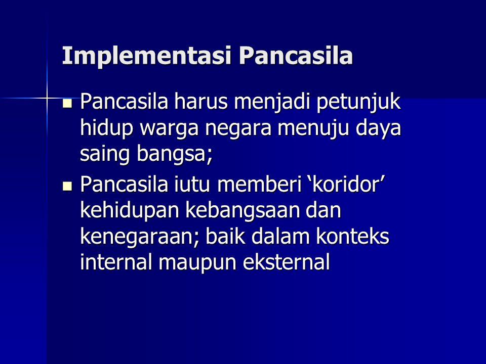 Implementasi Pancasila