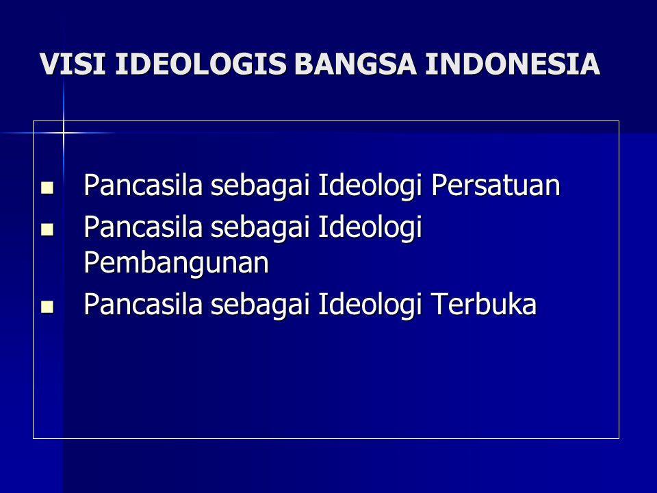 VISI IDEOLOGIS BANGSA INDONESIA