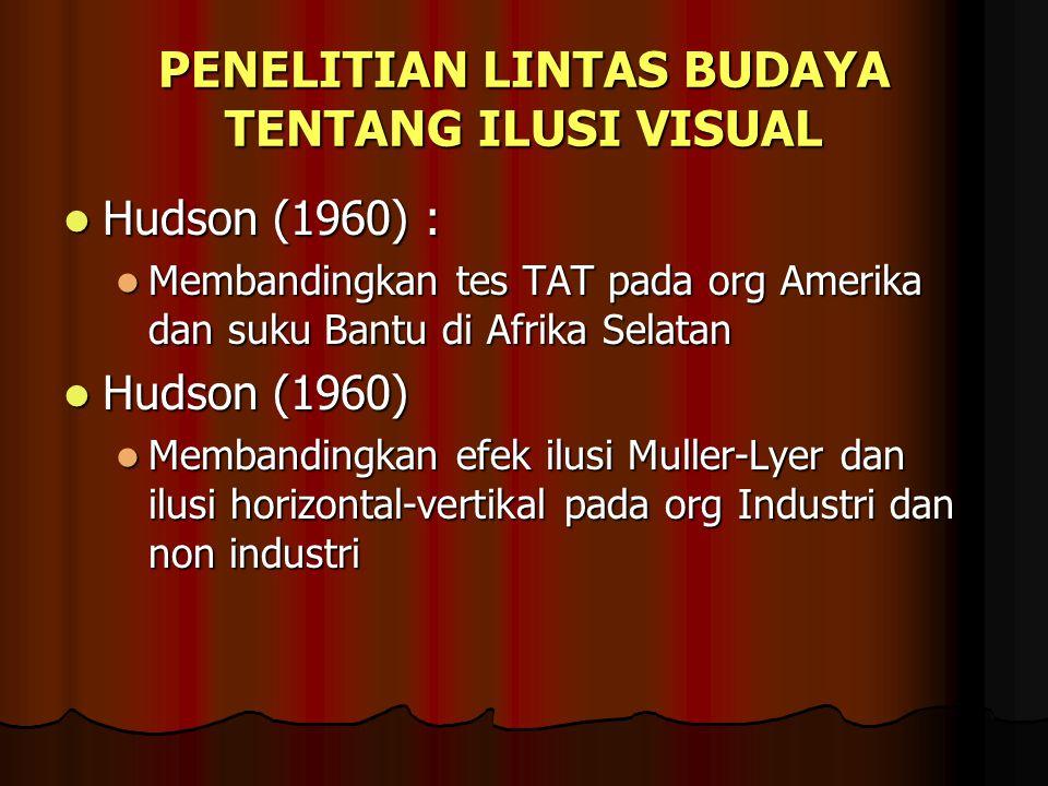 PENELITIAN LINTAS BUDAYA TENTANG ILUSI VISUAL