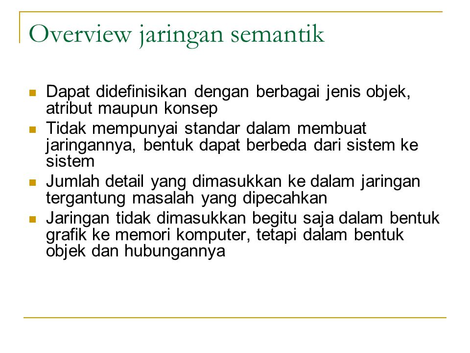 Overview jaringan semantik