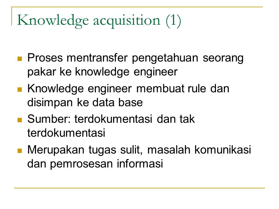 Knowledge acquisition (1)