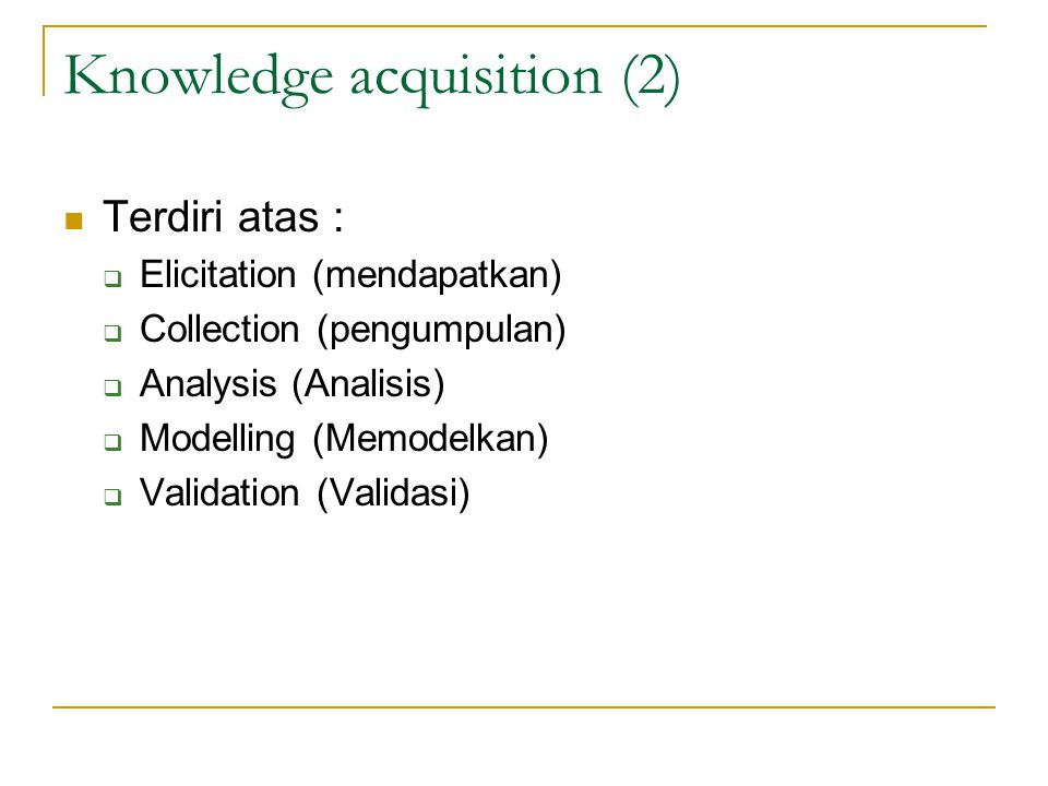 Knowledge acquisition (2)