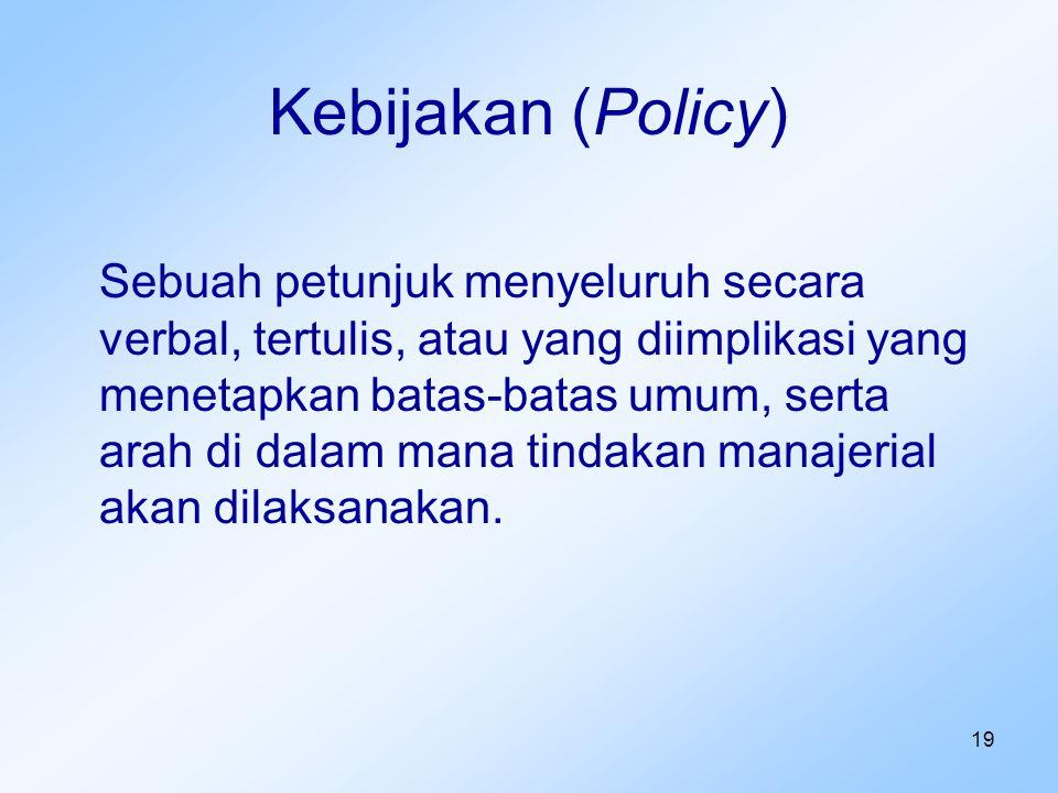 Kebijakan (Policy)