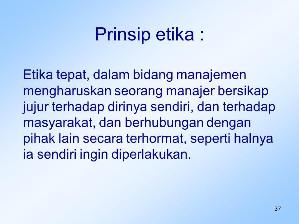Prinsip etika :