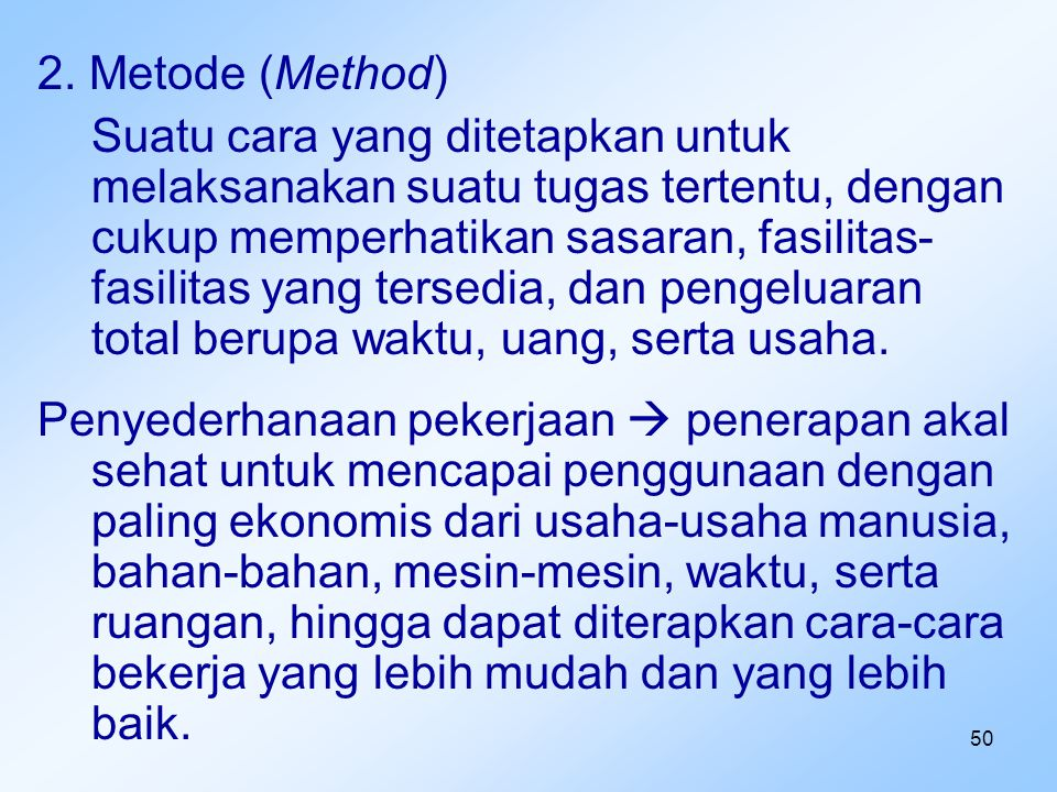 2. Metode (Method)