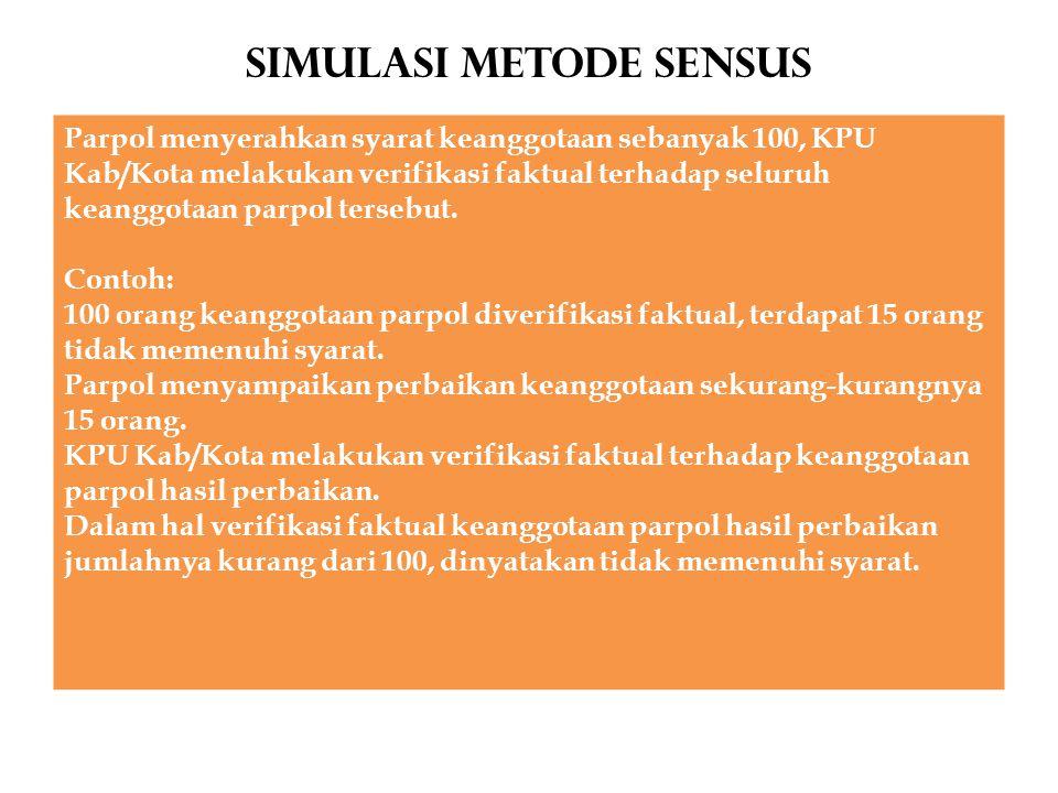 Simulasi METODE SENSUS