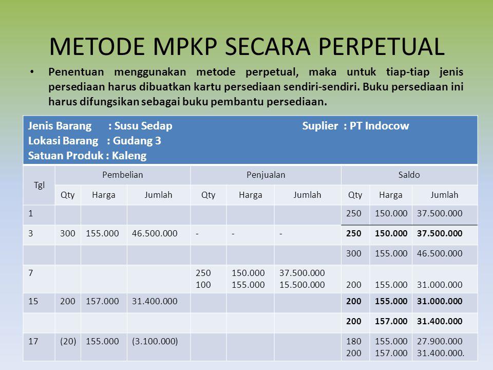 METODE MPKP SECARA PERPETUAL
