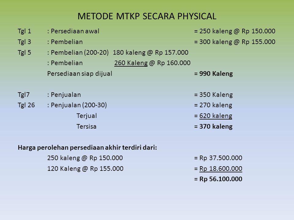 METODE MTKP SECARA PHYSICAL
