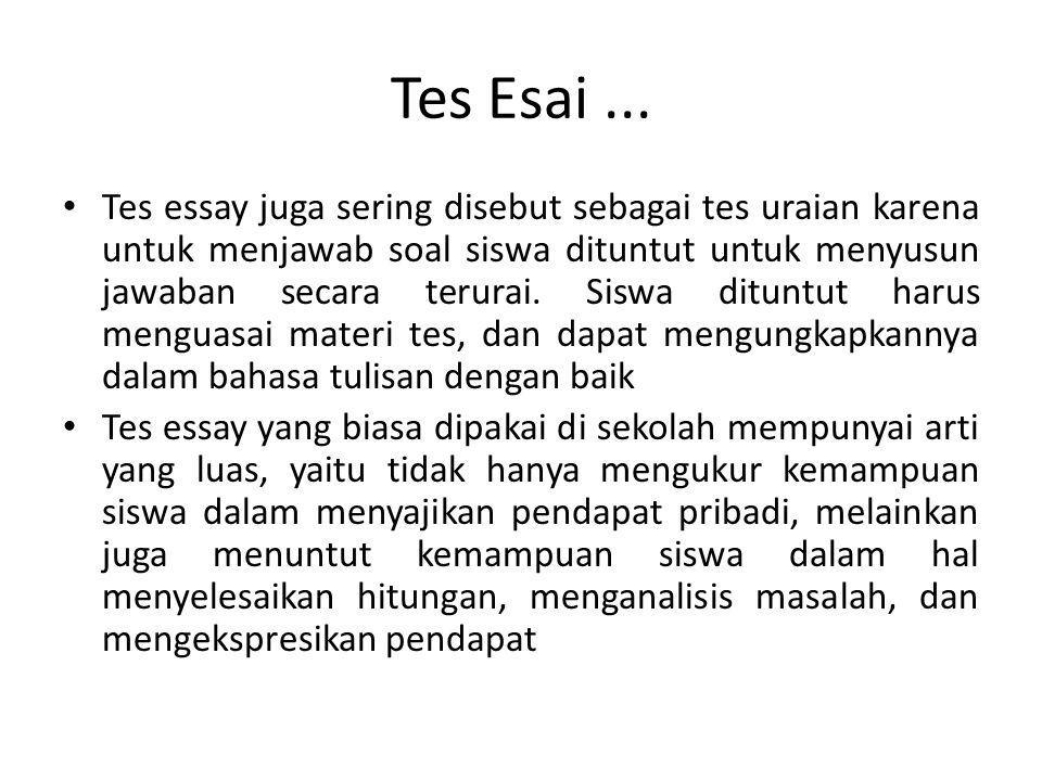 Tes Esai ...