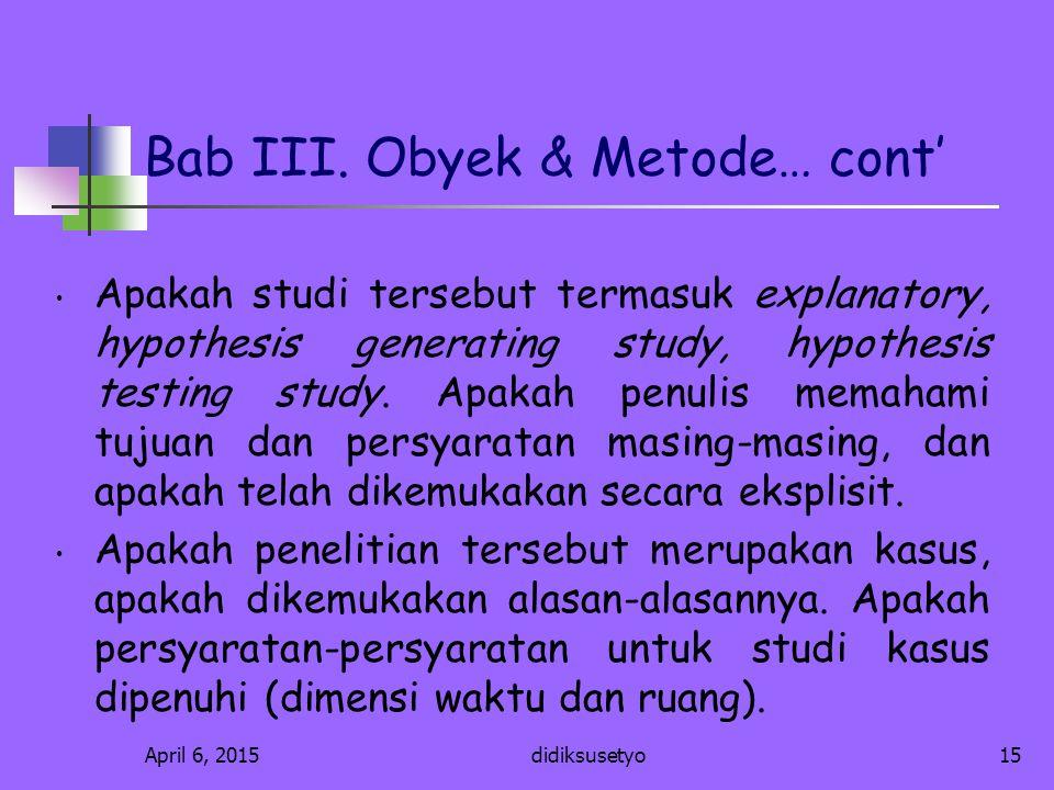 Bab III. Obyek & Metode… cont'