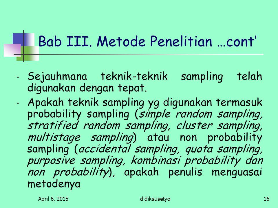 Bab III. Metode Penelitian …cont'