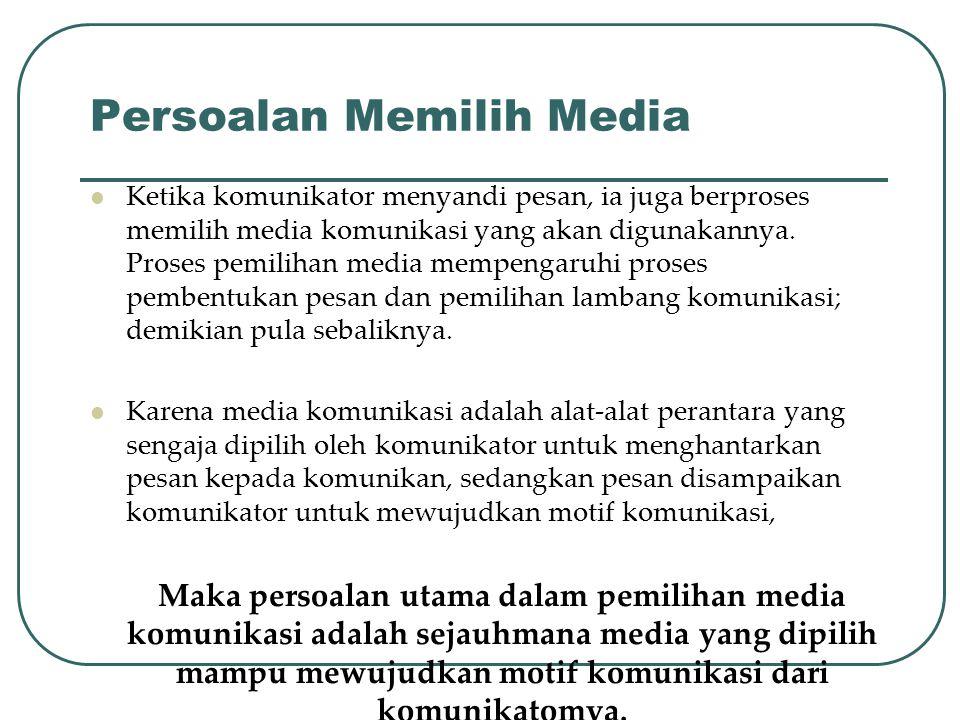 Persoalan Memilih Media