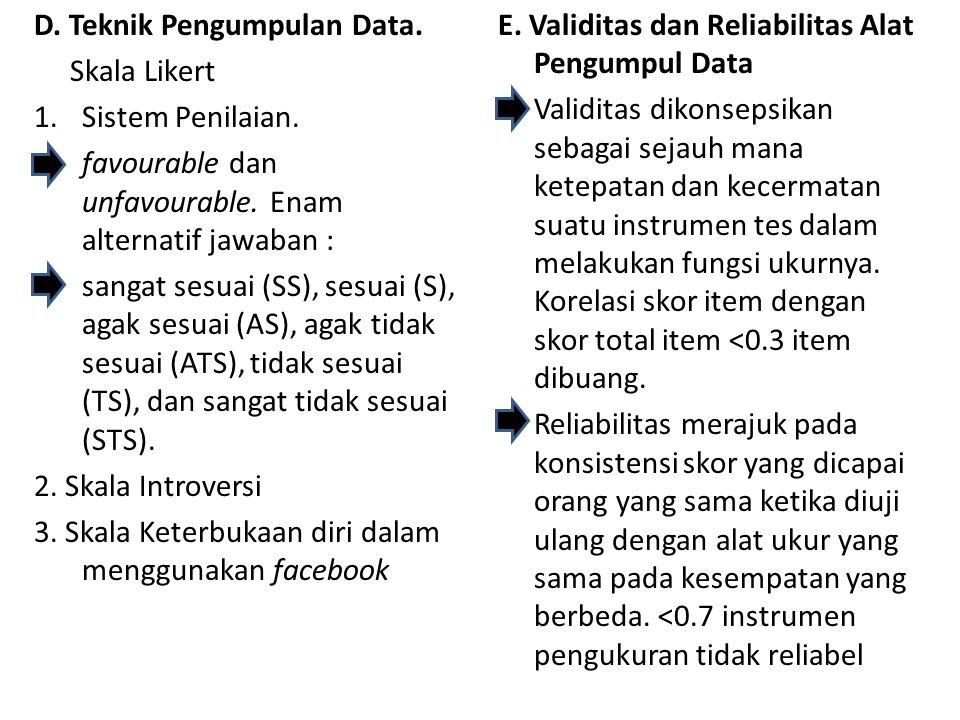 D. Teknik Pengumpulan Data.