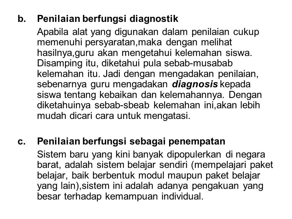 Penilaian berfungsi diagnostik