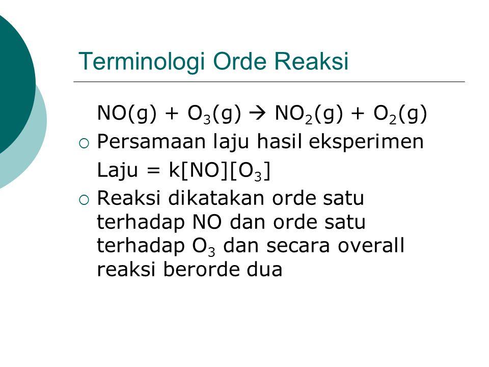 Terminologi Orde Reaksi