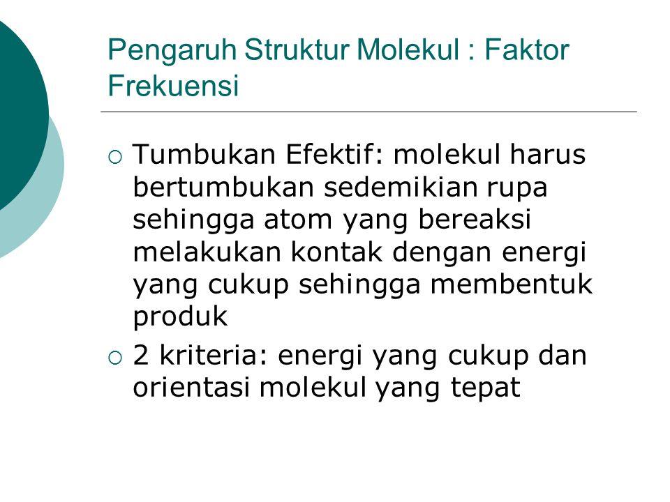 Pengaruh Struktur Molekul : Faktor Frekuensi