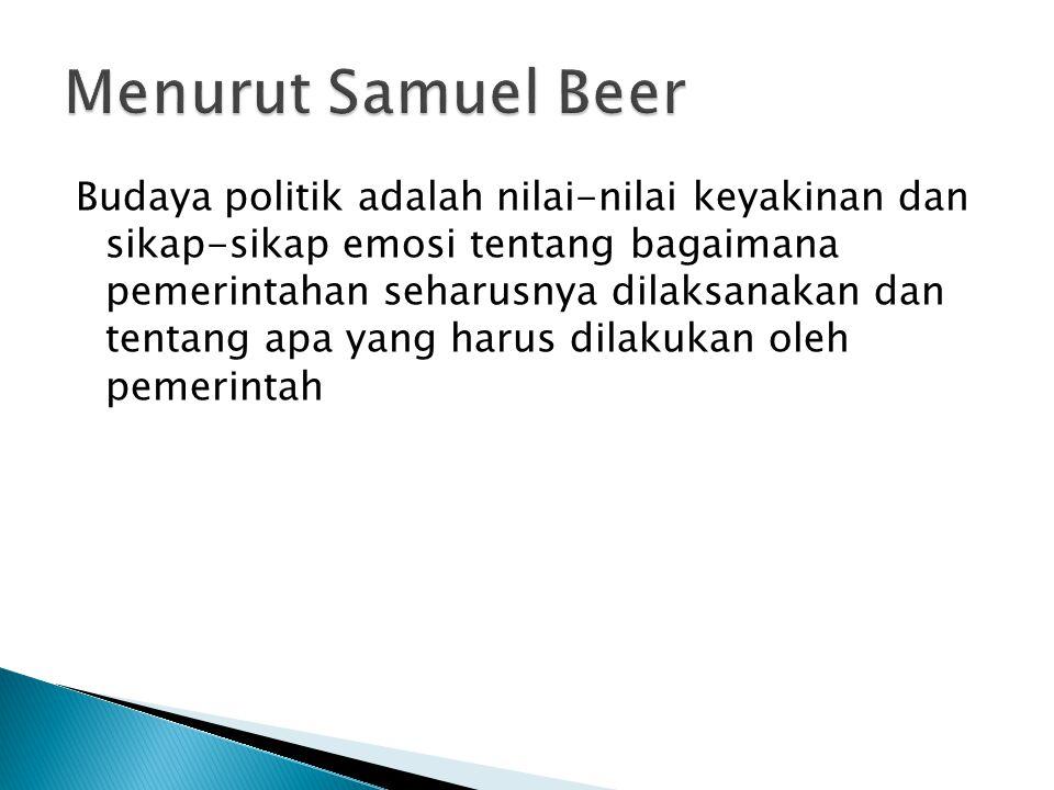 Menurut Samuel Beer