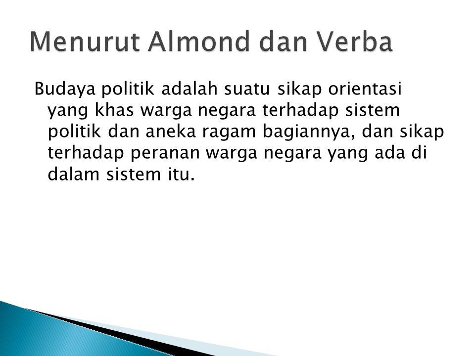 Menurut Almond dan Verba
