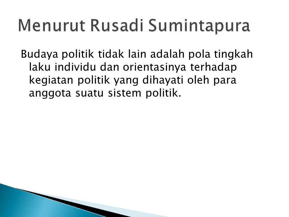 Menurut Rusadi Sumintapura